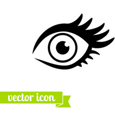 Eye icon 1 vector image vector image