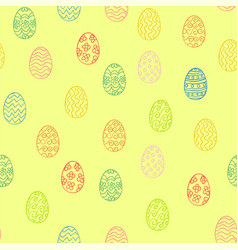 golden easter eggs pattern vector image vector image