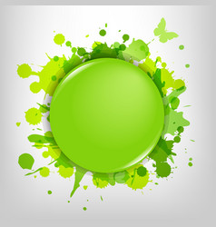 Green Glass With Green Blots vector image vector image