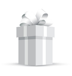 grey wrapped present vector image