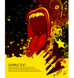 grunge poster vector image