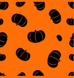 halloween orange background with pumpkins vector image