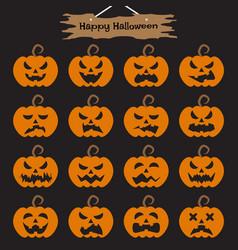 happy halloween - pumpkins vector image