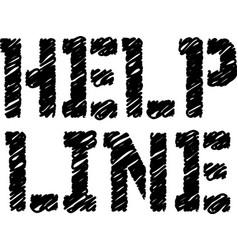 Help line typographic stamp vector