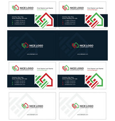 housetop business card 1 vector image vector image