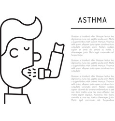 Icons asthma vector