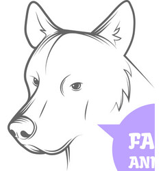 image of an dog vector image vector image