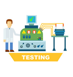 Industrial product testing isolated concept vector