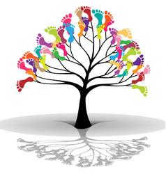 Kids tree vector