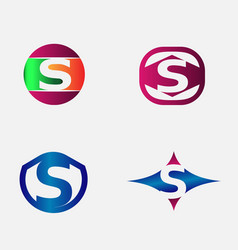 Letter S Logo alphabet design element templ vector image