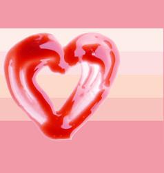 Lip gloss heart shaped vector