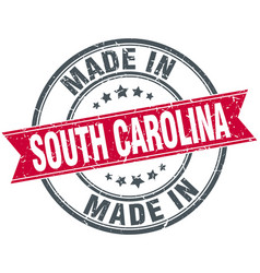 Made in south carolina red round vintage stamp vector