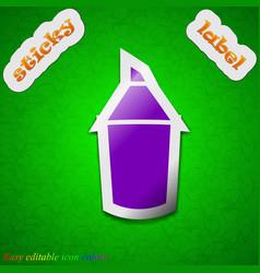 Pencil icon sign symbol chic colored sticky label vector