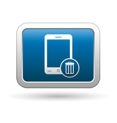 Phone with clean menu icon vector image