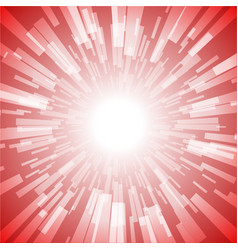 red burst ray light stripe vector image vector image
