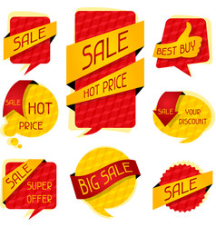 Sale speech bubbles and banners vector image vector image