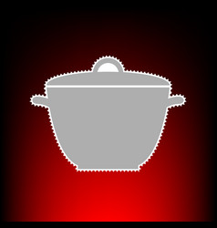 saucepan simple sign postage stamp or old photo vector image vector image
