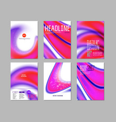 Set for purple cover design vector