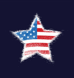 Star in american flag vector