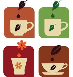 tea and coffe e vector image vector image