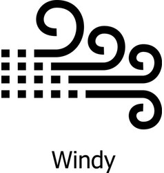 Windy icon simple style vector
