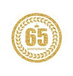 Template Logo 65 Years Anniversary vector image