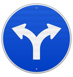 Blue sign with two arrows vector