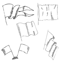 V4flags sketch pencil drawing by hand vector