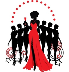 Women group graphic silhouettes different person vector
