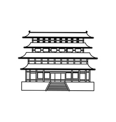 Japanese pagoda temple vector