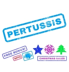 Pertussis rubber stamp vector