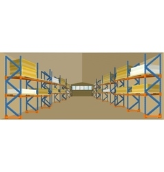 Warehouse hangar building in flat design vector