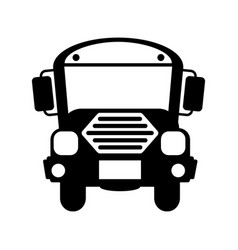 Bus school isolated icon vector