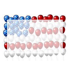 Usa balloon design of american flag vector