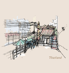 Thailand in watercolor style watercolor vector