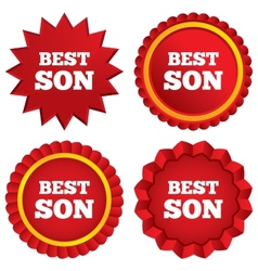 Best son sign icon award symbol vector