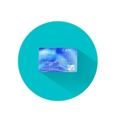 Credit card icon isolated on white vector
