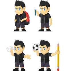 Spiky rocker boy customizable mascot 8 vector
