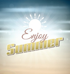 Enjoy summer background vector