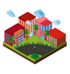 3d design for buildings on the corner vector