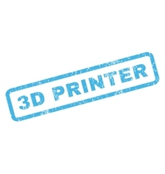 3d printer rubber stamp vector