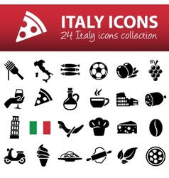 Italy icons vector
