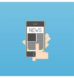 Phone on news vector