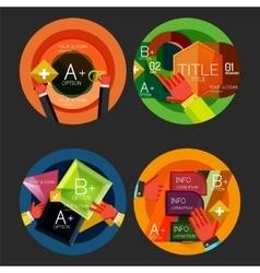 Set of option presentation labels flat design web vector image