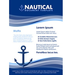 Nautical document template vector