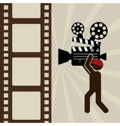Retro cinema design vector