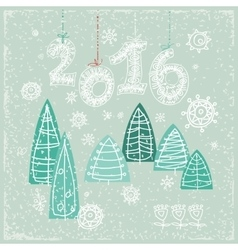 Happy new year greeting card celebration vector