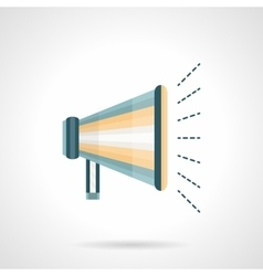 Promotion megaphone flat color icon vector