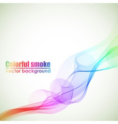 Abstract colorful smoke background with copy space vector