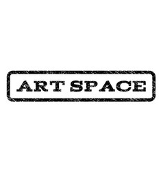 Art space watermark stamp vector